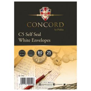 Concord Self Seal White C5 Envelopes - Pack of 25