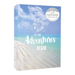 Home Collection Travel Beach Scene 4 x 6 Inch Slip In Photo Album, Holds 80 Photos