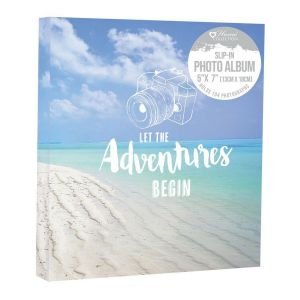 Home Collection Travel Beach Scene 5 x 7 Inch Slip In Photo Album, Holds 104 Photos