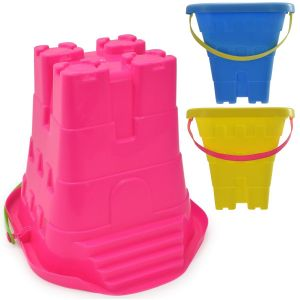 Nalu Beach Square Castle Beach Bucket with Steps