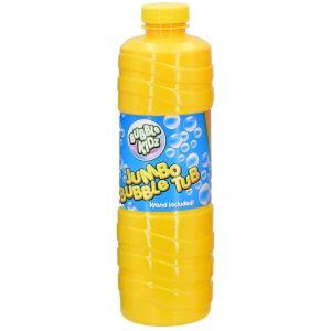Bubble Kidz Giant Bubble Solution Bottle with Wand - 1 Litre