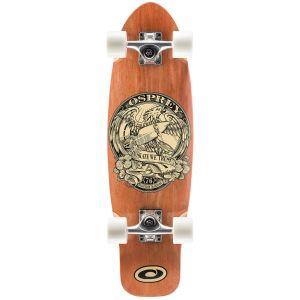 Osprey In Skate We Trust Mini Cruiser Skateboard - Brown