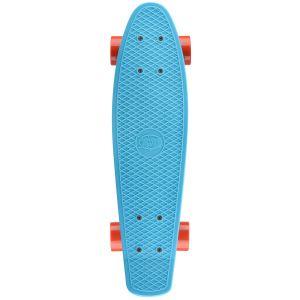 Xootz Retro Plastic Skateboard - Blue, 22 Inch
