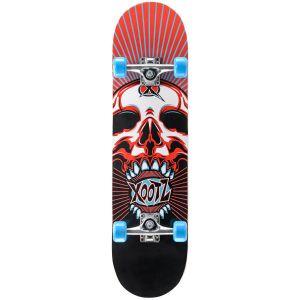 Xootz Skull Double Kick Tail Skateboard - Multi