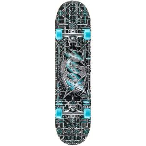Xootz Industrial Double Kick Tail Skateboard - Multi