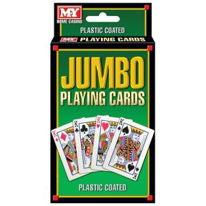 M.Y Jumbo Plastic Coated Playing Cards