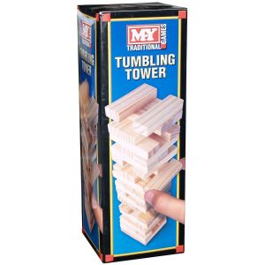 M.Y 48 Piece Wooden Tumbling Tower Game