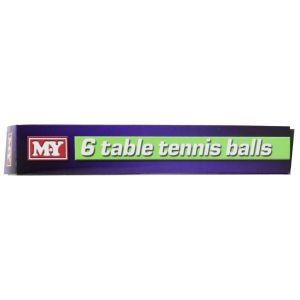 M.Y Table Tennis Balls - Set of 6