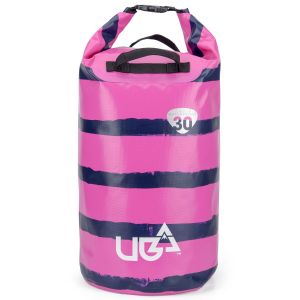 Urban Beach 30 Litre Waterproof Barrel Dry Bag with Rucksack Straps - Pink
