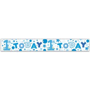 Simon Elvin Happy 1st Birthday Large Foil Party Banner - Boys