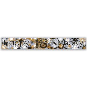 Simon Elvin Happy 18th Birthday Large Foil Party Banner - Male