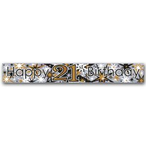 Simon Elvin Happy 21st Birthday Large Foil Party Banner - Male