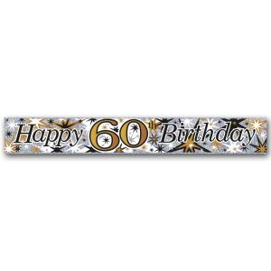 Simon Elvin Happy 60th Birthday Large Foil Party Banner - Male