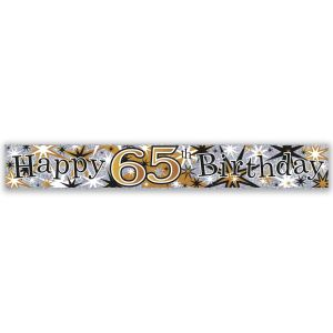 Simon Elvin Happy 65th Birthday Large Foil Party Banner - Male