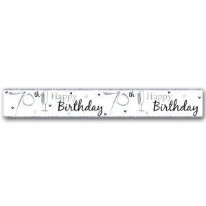 Simon Elvin Happy 70th Birthday Large Foil Party Banner - Unisex