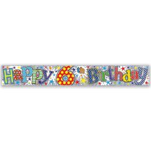 Simon Elvin Happy 6th Birthday Large Foil Party Banner - Boys