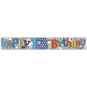 Simon Elvin Happy 13th Birthday Large Foil Party Banner - Boys