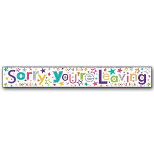 Simon Elvin Sorry You're Leaving Large Foil Party Banner - Unisex