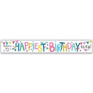 Simon Elvin Wishing You The Happiest Birthday Ever Large Foil Party Banner - Female