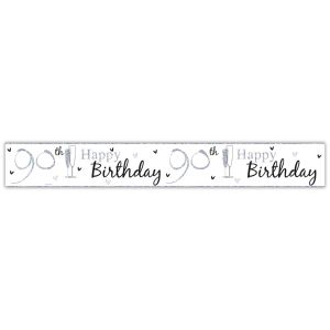 Simon Elvin Happy 90th Birthday Large Foil Party Banner - Unisex