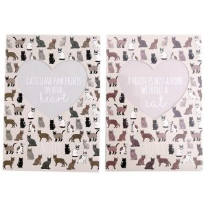 Sifcon Pet Cat A5 Book Bound Notebook, 200 Pages