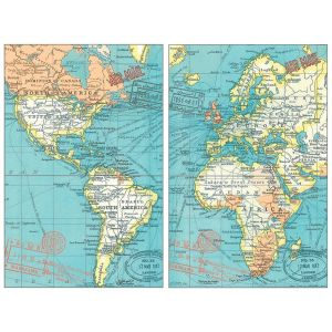 Robert Frederick Vintage Map Mini Magnetic Notebook