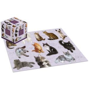 Robert Frederick Patricia MacCarthy Cats 100 Piece Jigsaw Puzzle Cube