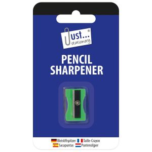 Just Stationery Plastic Pencil Sharpener, Assorted Colours