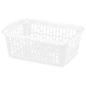 Wham Medium Plastic Handy Storage Basket, Clear