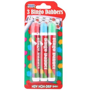Tallon Games Bingo Dabber Pens, Assorted Colours - Pack of 3