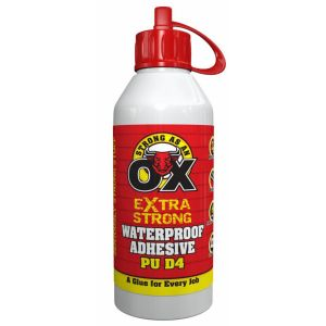 Strong as an Ox Extra Strong PU D4 Waterproof Adhesive, 250ml