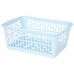Wham Large Plastic Handy Storage Basket, Cool Blue