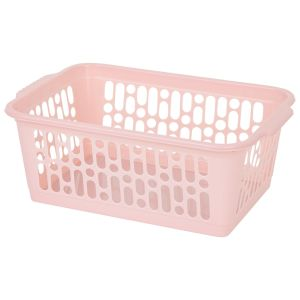 Wham Medium Plastic Handy Storage Basket, Pink