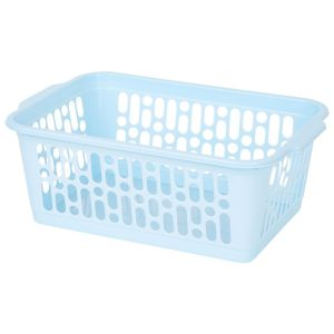 Wham Medium Plastic Handy Storage Basket, Cool Blue