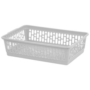 Wham Small Plastic Handy Storage Basket, Grey