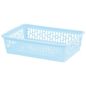 Wham Small Plastic Handy Storage Basket, Cool Blue