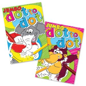 Artbox Children's A4 Jumbo Dot to Dot Colouring Book, 180 Pages