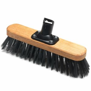 Addis 275mm PET Plastic Fill Stiff Outdoor Varnished Broom Head