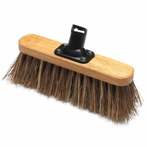 Addis 265mm Bassine/Cane Fill Stiff Outdoor Varnished Broom Head