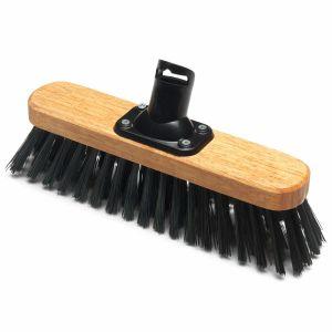 Addis 275mm PET Plastic Fill Soft Outdoor Varnished Broom Head