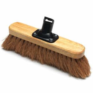 Addis 275mm Natural Coco Fill Soft Outdoor Varnished Broom Head