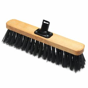 Addis 450mm PET Plastic Fill Stiff Outdoor Varnished Broom Head