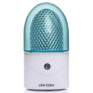 Uni-Com Plug-In 3 LED Night Light, Soft Blue