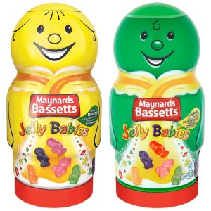 Maynards Bassetts Jelly Babies Novelty Gift Jar - 495g