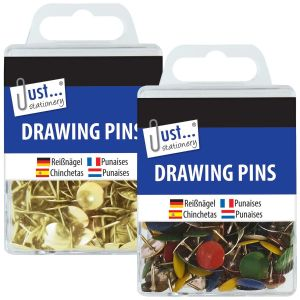 Just Stationery Drawing Pins - Pack of 120