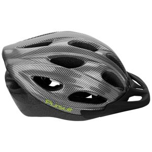 Summit Pursuit Cycle Safety Helmet with Visor, Black/Silver