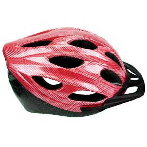 Summit Pursuit Cycle Safety Helmet with Visor, Red