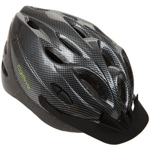 Summit Pursuit Cycle Safety Helmet with LED Safety Lights, Black/Silver