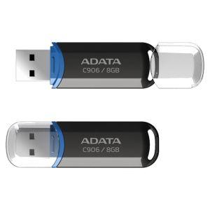 ADATA C906 8GB USB 2.0 Flash Drive, Black