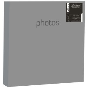 Home Collection Solid Colour 4 x 6 Inch Slip In Photo Album, Holds 200 Photos
